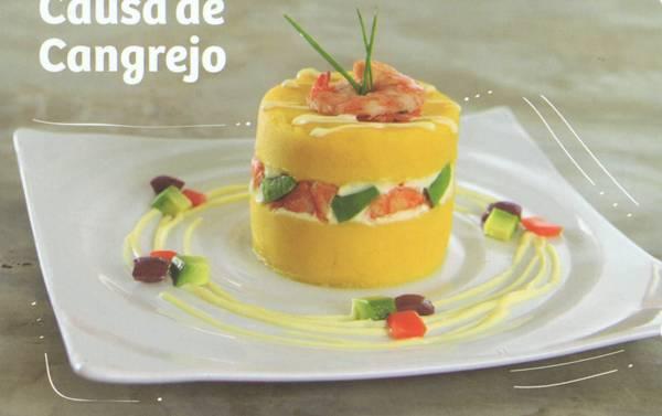 Afbeeldingsresultaat voor Causa de Pulpa de cangrejo