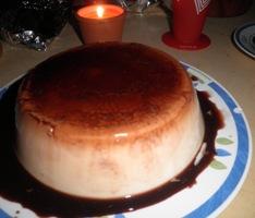 Flan de chocolate y nata